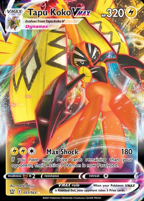 Pokemon Sword & Shield Battle Styles Ultra Rare Tapu Koko VMAX #51