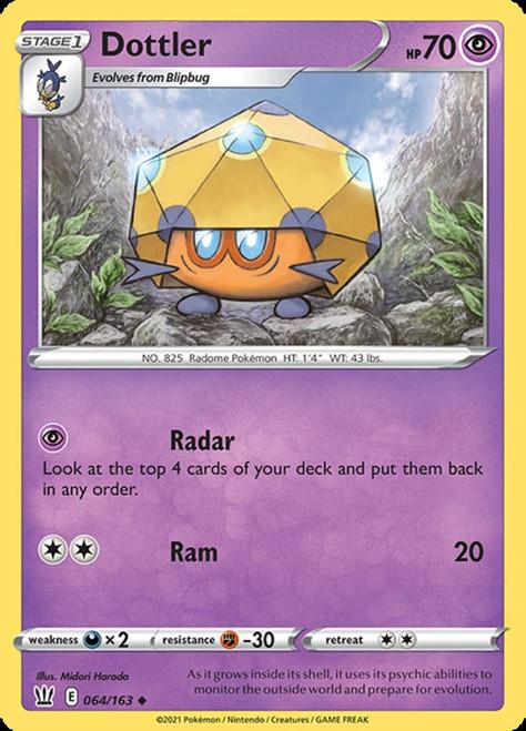 Pokemon Battle Styles Uncommon Dottler #64