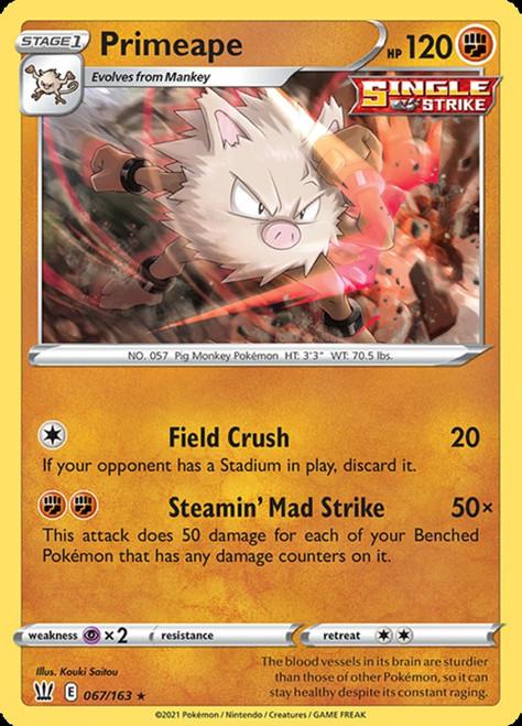 Pokemon Sword & Shield Battle Styles Rare Primeape #67