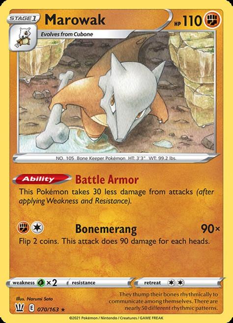 Pokemon Battle Styles Rare Marowak #70