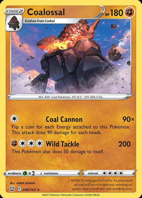 Pokemon Sword & Shield Battle Styles Holo Rare Coalossal #80