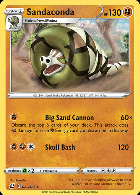 Pokemon Battle Styles Holo Rare Sandaconda #82
