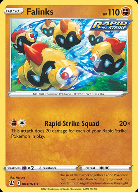 Pokemon Sword & Shield Battle Styles Rare Falinks #83