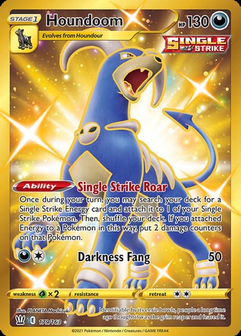 Pokemon Sword & Shield Battle Styles Secret Rare Houndoom #179