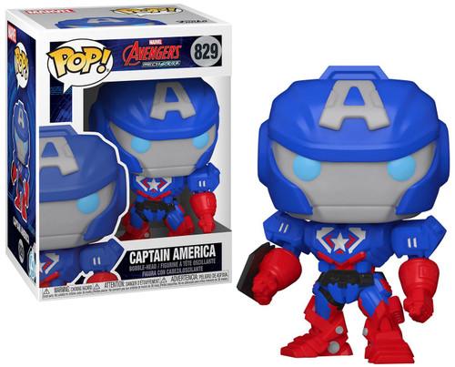 Funko Marvel Mech Strike Captain America Vinyl Figure #829