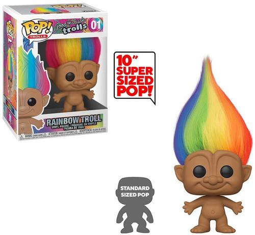 Funko Trolls Classic POP! Trolls Rainbow Troll 10-Inch Vinyl Figure #01 [Regular Version, Super-Sized, Damaged Package]