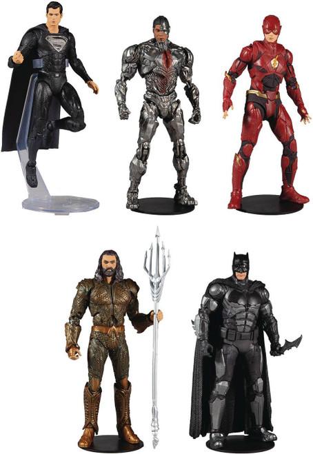 McFarlane Toys DC Justice League Batman, Superman, Aquaman, Flash & Cyborg Set of 5 Action Figures (Pre-Order ships June)