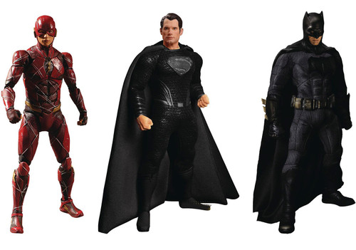 DC One:12 Collective Zack Snyder's Justice League Superman, Batman & The Flash Deluxe Steel Action Figure 3-Pack Boxed Set (Pre-Order ships February)