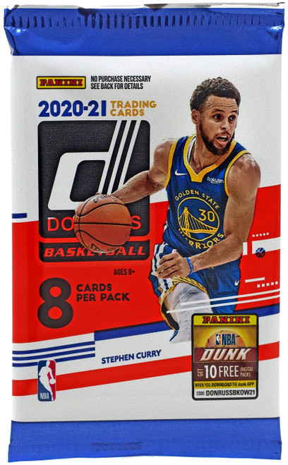 NBA Donruss 2020-21 Basketball Trading Card BLASTER Pack [8 Cards]