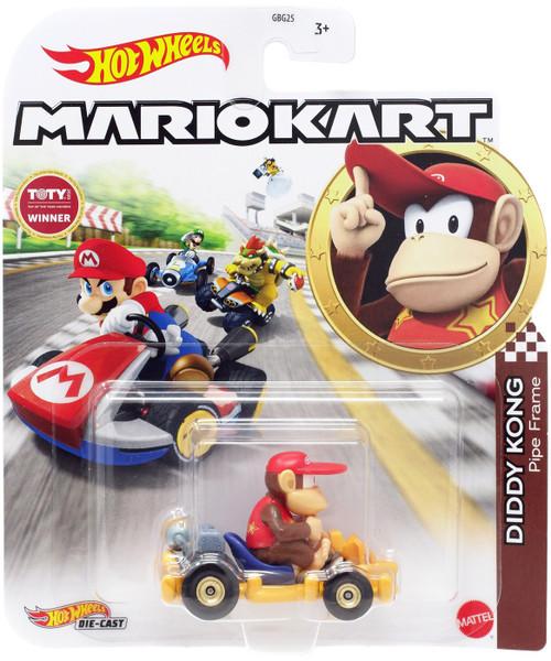 Hot Wheels Mario Kart Diddy Kong Diecast Car [Pipe Frame]