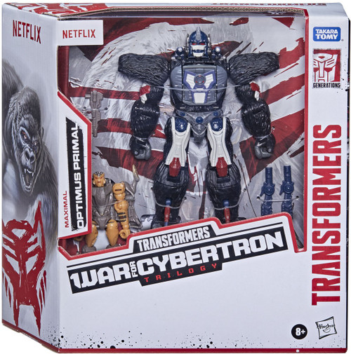 Transformers Generations War for Cybertron: Trilogy Optimus Primal & Rattrap Exclusive Voyager Action Figure [Netflix Series Inspired] (Pre-Order ships October)