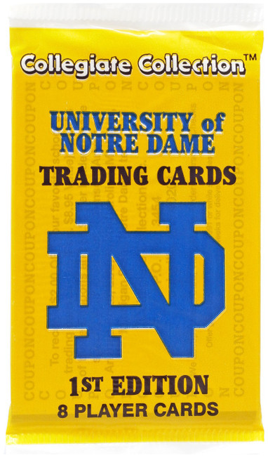 Collegiate University of Notre Dame Trading Card Pack [8 Cards]