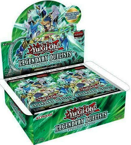 YuGiOh Trading Card Game Legendary Duelists Synchro Storm Booster Box [36 Packs] (Pre-Order ships January)