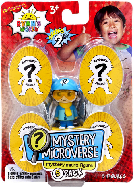Pocket Watch Ryan's World Mystery Microverse Series 2 Shredder Ryan Micro Figure 5-Pack