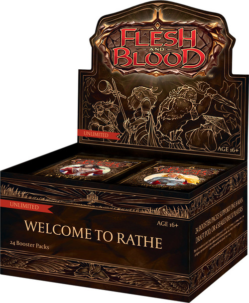 Flesh & Blood Trading Card Game Welcome to Rathe (Unlimited) Booster Box [24 Packs]