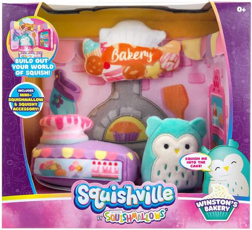 Squishmallows Squishville! Winston's Bakery 2-Inch Mini Plush Playset