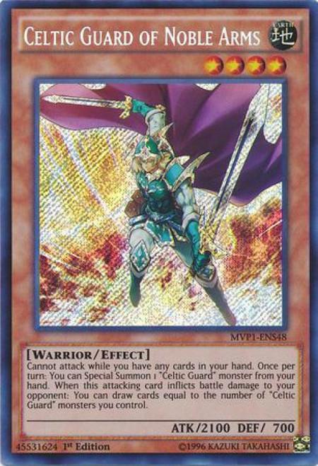 YuGiOh Dark Side of Dimensions Movie Secret Rare Celtic Guard of Noble Arms MVP1-EN048