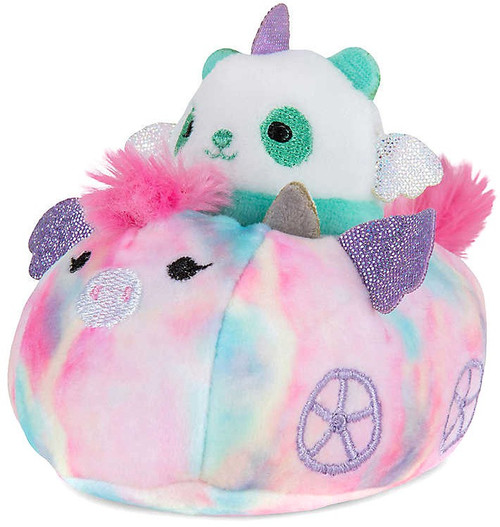 Squishmallows Squishville! Panda & Vehicle 2-Inch Mini Plush