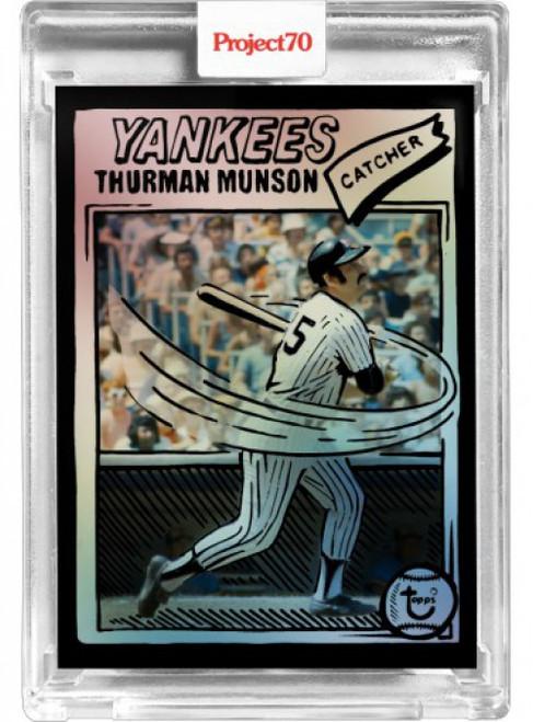 MLB Topps Project70 Baseball 1992 Thurman Munson Trading Card #18/70 [Rainbow Foil, #41, By Joshua Vides]