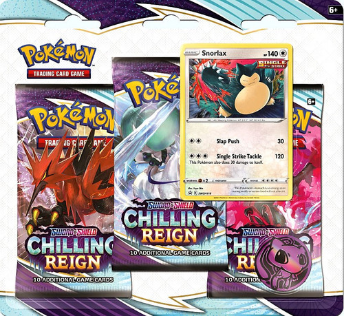 Pokemon Trading Card Game Sword & Shield Chilling Reign Snorlax Special Edition [3 Booster Packs, Promo Card & Coin] (Pre-Order ships June)
