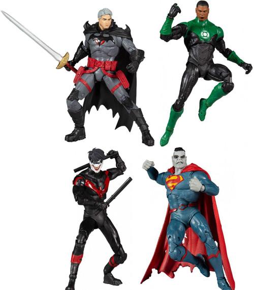 McFarlane Toys DC Multiverse Thomas Wayne, Green Lantern, Bizarro & Nightwing Joker Set of 4 Action Figures
