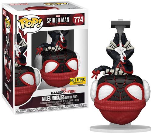 Funko Marvel Spider-Man POP! Games Miles Morales Exclusive Vinyl Figure #774 [Winter Suit, Upside Down]