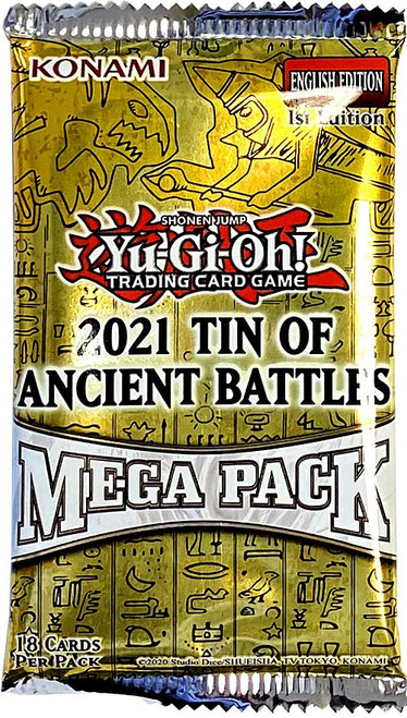 YuGiOh Trading Card Game 2021 Ancient Battles Booster MEGA Pack [18 Cards] (Pre-Order ships August)