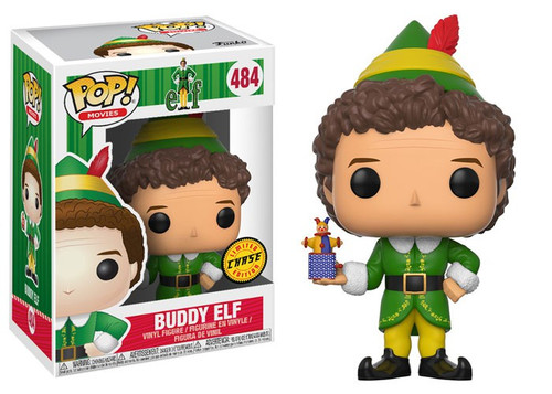 Funko Elf the Movie POP! Movies Buddy Elf Vinyl Figure #484 [Holding Jack in the Box, Chase Version, Damaged Package]