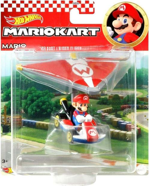 Hot Wheels Mario Kart Glider Mario Diecast Car [Standard Kart + Super Glider]