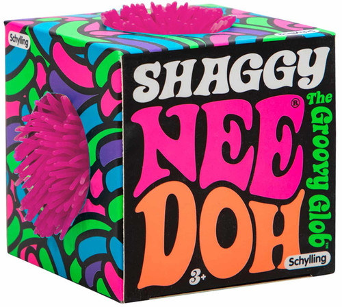 NeeDoh The Groovy Glob Shaggy PINK 2.5-Inch Small Stress Ball