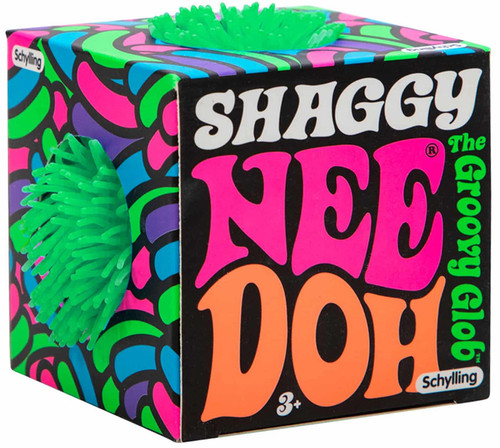 NeeDoh The Groovy Glob Shaggy GREEN 2.5-Inch Small Stress Ball