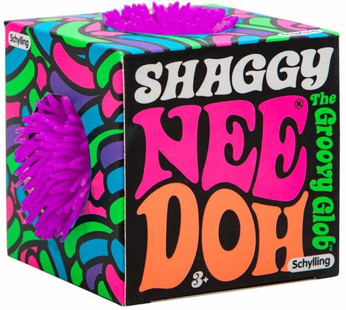 NeeDoh The Groovy Glob Shaggy PURPLE 2.5-Inch Small Stress Ball
