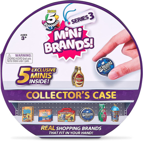 5 Surprise Mini Brands! Series 3 Collector Case [Includes 5 Exclusive Mini Figures!] (Pre-Order ships October)