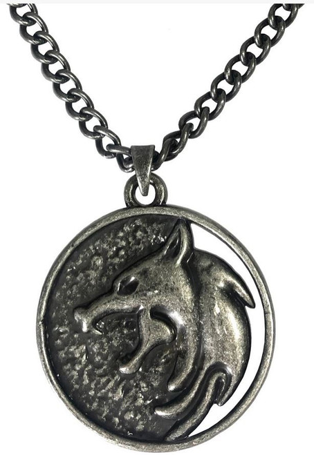 Netflix: The Witcher Geralt Wolf School 1.5-Inch Necklace (Pre-Order ships June)