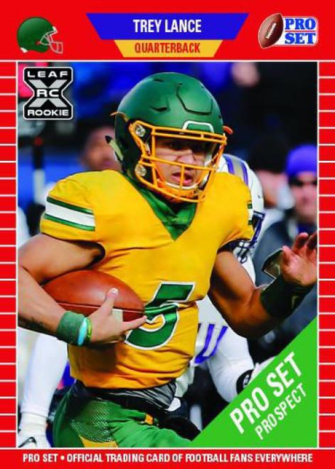 NFL 2021 Pro Set Football Trey Lance Trading Card PS10 [XRC Rookie Card]