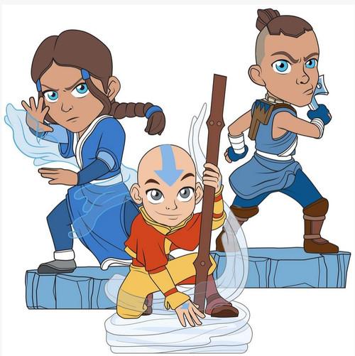Avatar the Last Airbender Adventure Aang, Katara & Sokka 1.5-Inch Mini Figure Box [9 Figures] (Pre-Order ships March)