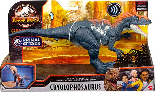 Jurassic World Camp Cretaceous Primal Attack Cryolophosaurus Action Figure [Sound Strike, 2021 Version]