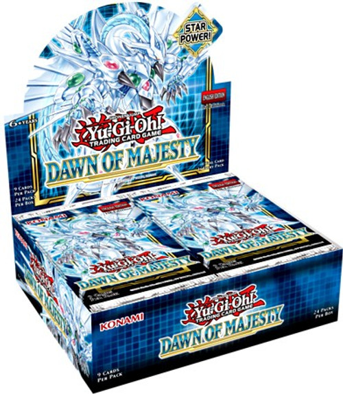 YuGiOh Trading Card Game Dawn of Majesty Booster Box [24 Packs] (Pre-Order ships August)