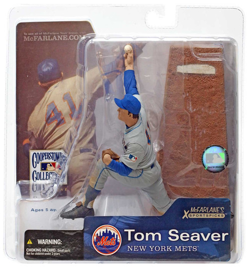 McFarlane Toys MLB Cooperstown Collection Series 1 Tom Seaver (New York Mets) Action Figure [Gray Jersey, Damaged Package]
