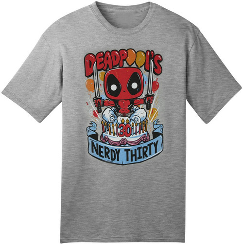 Funko Marvel Collector Corps Deadpool Nerdy Thirty Exclusive T-Shirt [Medium]