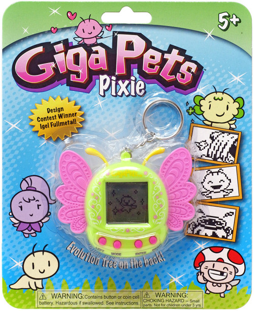 Giga Pets Pixie Green Virtual Pet Toy