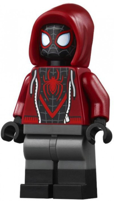 LEGO Marvel Super Heroes Spider-Man (Miles Morales) Minifigure [Dark Red Hood Loose]