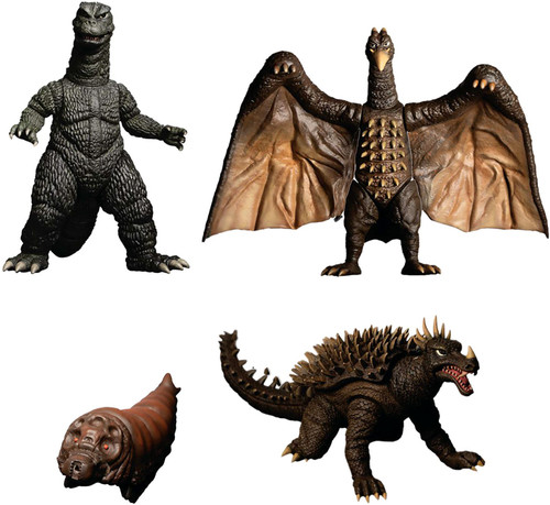 5 Points XL Destroy All Monsters (1968) Godzilla, Mothra, Anguirus & Rodan Deluxe Action Figure Boxed Set [Round 1] (Pre-Order ships January)