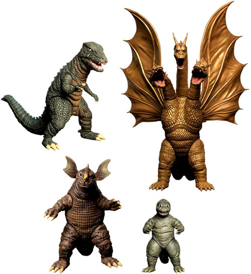 Godzilla 5 Points XL Destroy All Monsters (1968) King Ghidorah, Manilla, Gorosaurus & Baragon Deluxe Action Figure Boxed Set [Round 2] (Pre-Order ships January)
