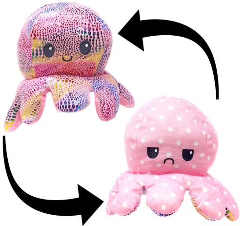 Reversible Plush Pink Octopus 5-Inch