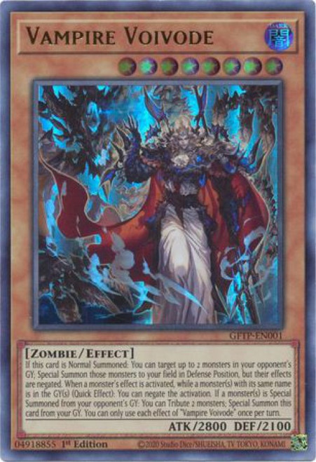 YuGiOh Ghosts From the Past Ultra Rare Vampire Voivode GFTP-EN001