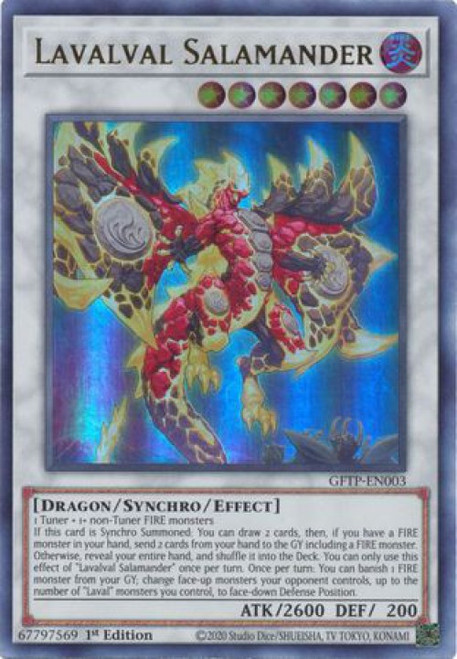 YuGiOh Ghosts From the Past Ultra Rare Lavalval Salamander GFTP-EN003