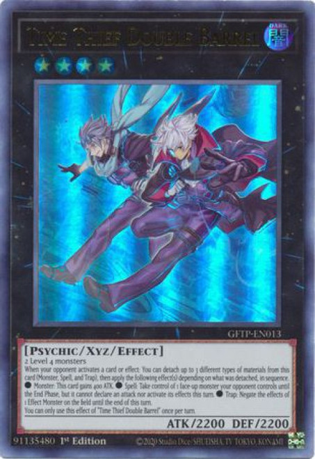 YuGiOh Ghosts From the Past Ultra Rare Time Thief Double Barrel GFTP-EN013