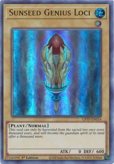 YuGiOh Ghosts From the Past Ultra Rare Sunseed Genius Loci GFTP-EN014