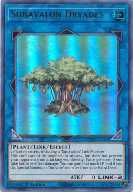 YuGiOh Ghosts From the Past Ultra Rare Sunavalon Dryades GFTP-EN019